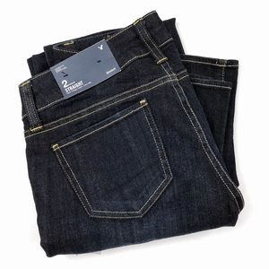 American Eagle dark wash straight stretch jeans